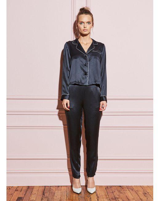Fleur du Mal - Black Long Sleeve Pajama Top - Lyst