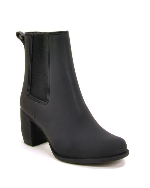 Jeffrey Campbell | Black Rubber Bootie | Lyst
