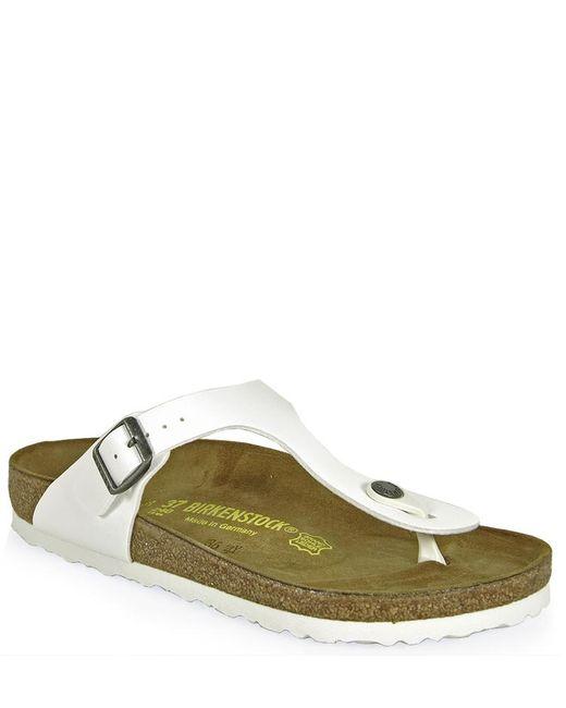 Birkenstock - White Thong Sandal - Lyst