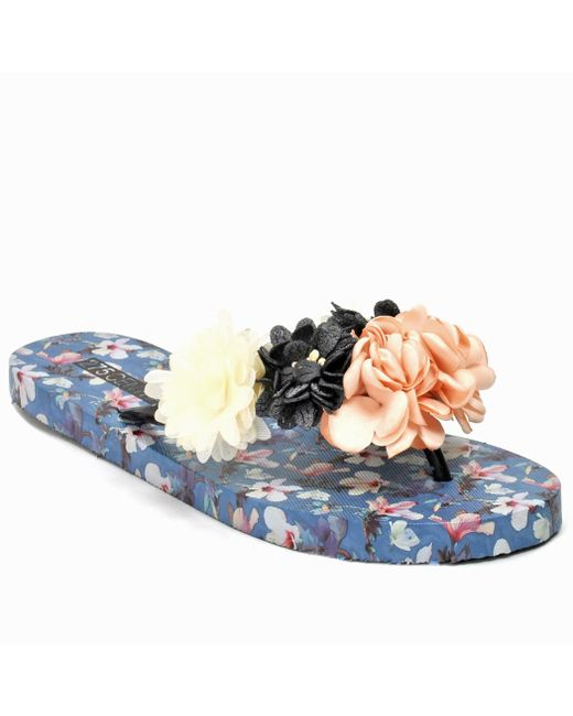 275 Central - Blue Floral Flat Thong - Lyst