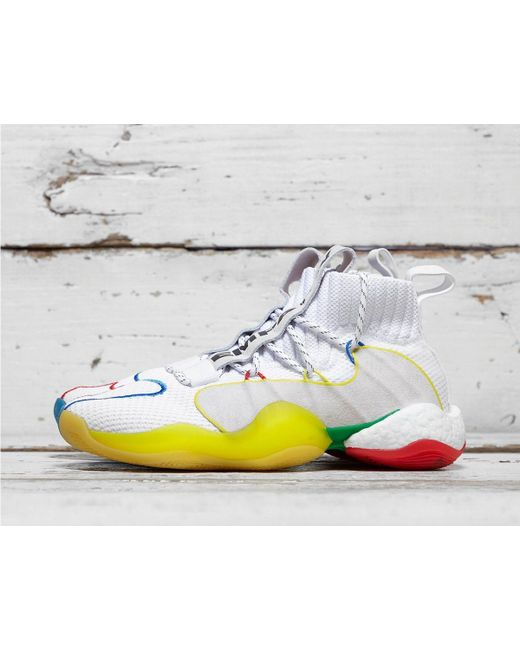 release date: f19f6 4dde8 Men's White X Pharrell Williams Crazy Byw Lvl X