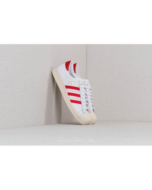 lyst adidas originali adidas superstar og ftw bianco / rosso / dal nucleo