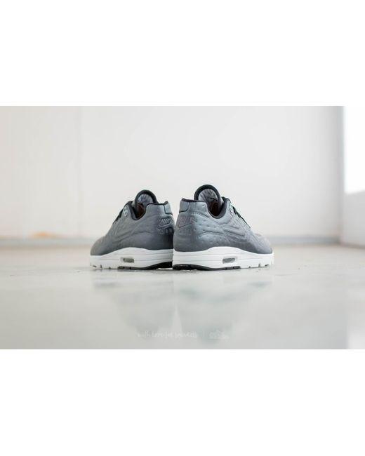 ... Nike | Gray Wmns Air Max 1 Ultra Premium Jacguard Metallic Hematite/  Black-dark ...