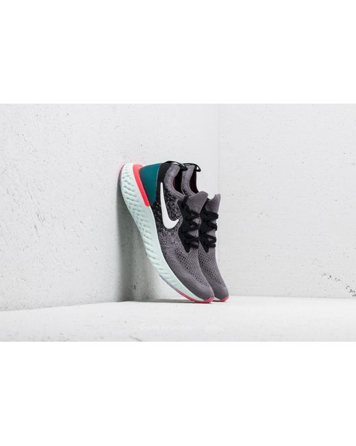 Nike - Epic React Flyknit (gs) Gunsmoke White-black - Lyst ...