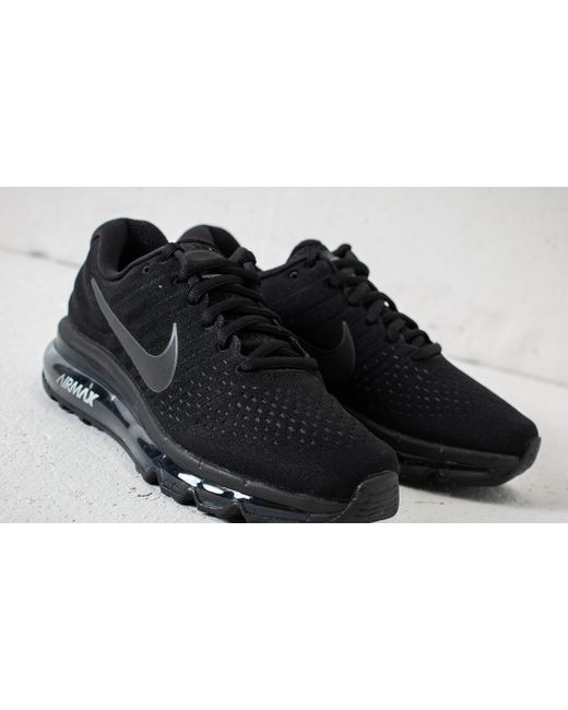 Nike Air Max 2017 GS Black Summit White Anthracite Metallic Silver 851622 001 Women's Girl's Running Shoes Sneakers