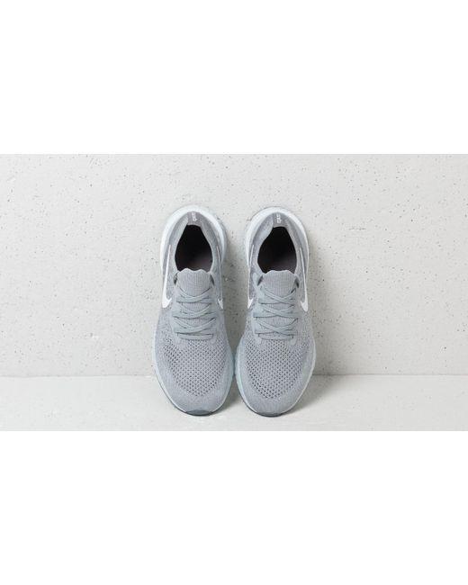 7fa0b225f8d ... Nike - Gray Wmns Epic React Flyknit Wolf Grey  White-cool Grey - Lyst  ...
