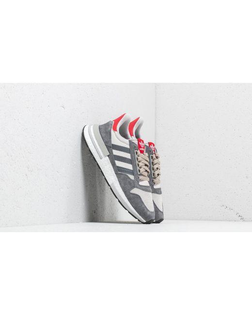 03cbe8fdb77c0 Adidas Originals - Gray Adidas Zx 500 Rm Grey Four  Ftw White  Scarlet for  ...
