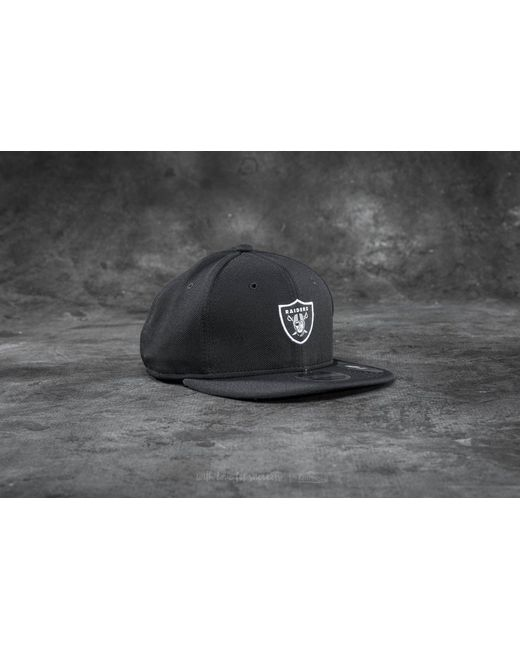 KTZ | 9fifty Border Edge Pique Oakland Raiders Cap Black for Men | Lyst