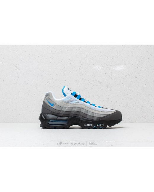 Lyst - Nike Air Max 95  99 White  Crystal Blue in Blue for Men bced3a4ad