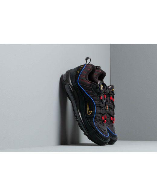 new product 474d6 8e65f Nike - Air Max 98 Black  Black-amarillo-university Red for Men ...