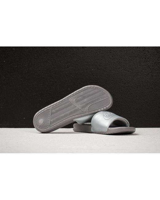 Lyst - Nike Wmns Benassi Jdi Bp Metallic Silver in Metallic - Save 26% 7f33a3f3766