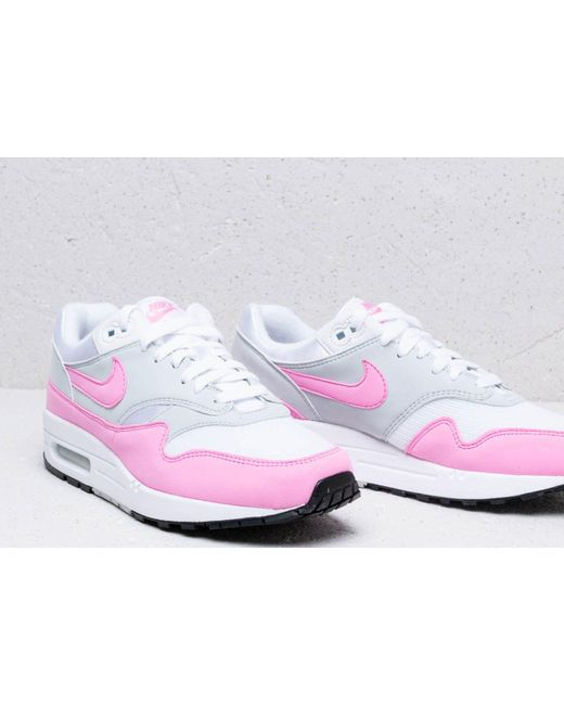 the latest 540e8 75081 ... Nike - W Air Max 1 Essential White  Psychic Pink - Lyst