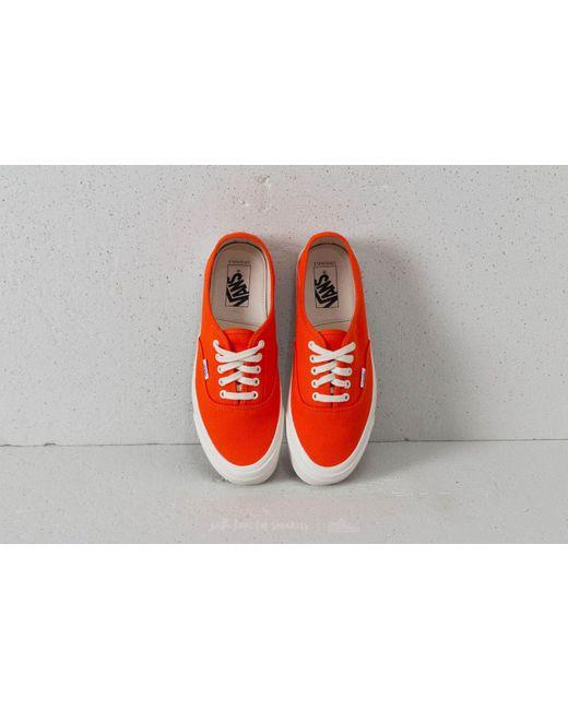 Vans OG Style 43 LX (Canvas) Red Orange/ Marsh La Cantidad De Línea 4NMdBNpAnE