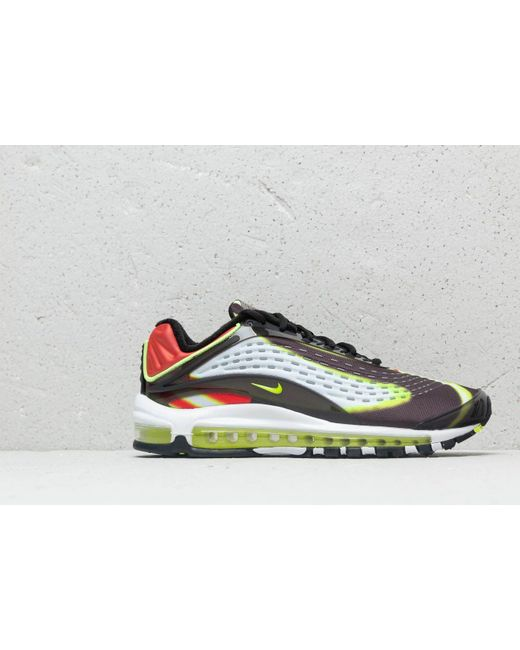 43ffb14ab6 ... Nike - Multicolor Air Max Deluxe Black/ Volt-habanero Red-white for Men  ...