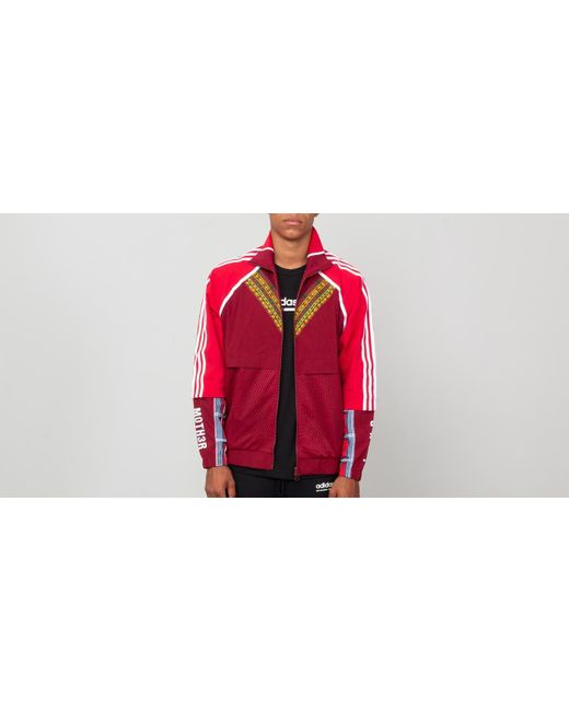 5fc525082ef3 Adidas Originals - Red Adidas X Pharrell Williams Hu Afro Tracktop  Collegiate Burgundy for Men ...