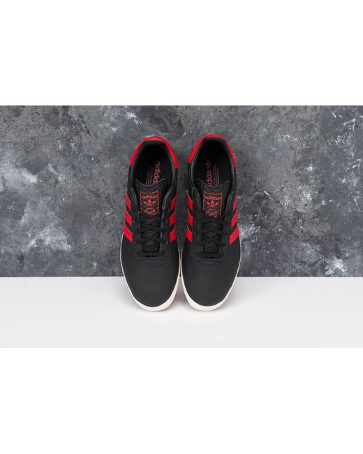 adidas 350 Core Black/ Scarlet/ Off White