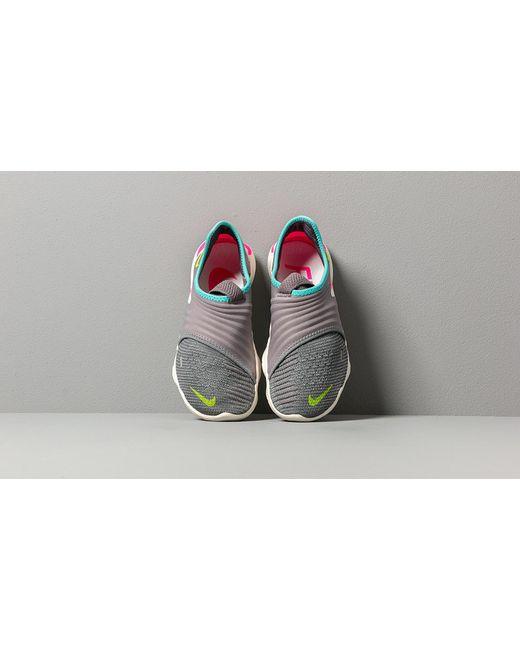 faaf01cc63048 ... Nike - Gray Wmns Free Rn Flyknit 3.0 Gunsmoke/ Volt-aurora Green - Lyst  ...