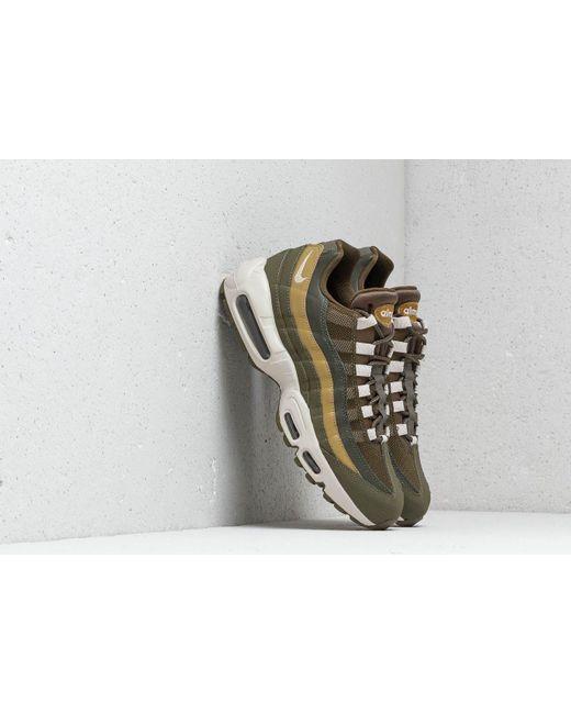 396952027f Nike - Green Air Max 95 Essential Olive Canvas/ Light Bone for Men - Lyst  ...
