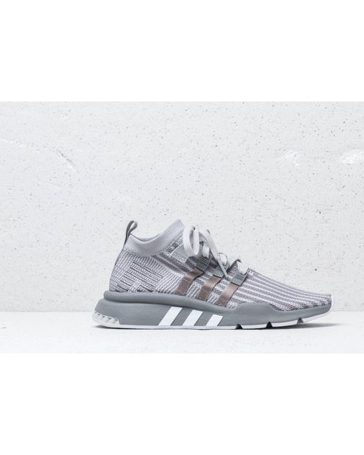 481cfc8b87f ... Adidas Originals - Gray Adidas Eqt Support Mid Adv Primeknit Grey Two   Grey Three  ...