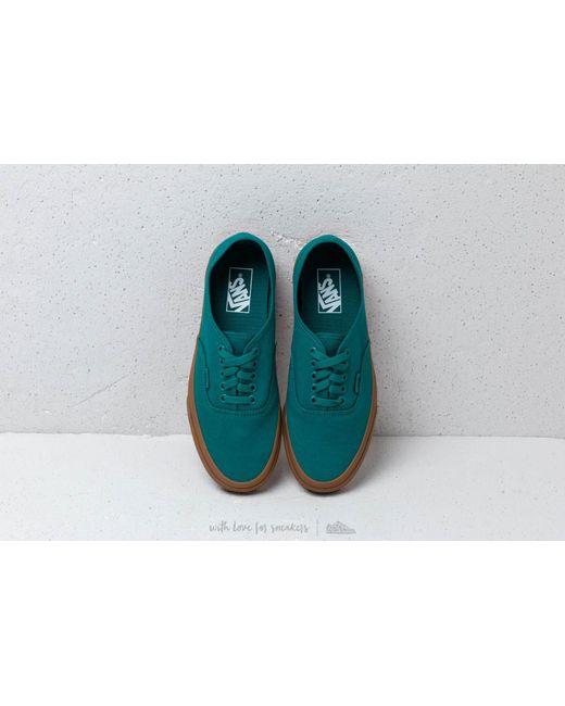 ... Vans - Authentic Quetzal Green  Gum for Men - Lyst ... 4aaf61e37