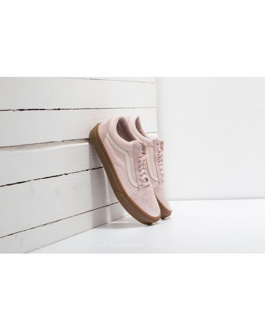 vans premium suede old skool trainers in beige
