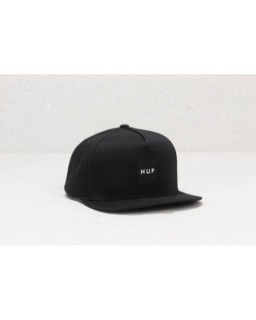 d17f78f4c5993 Lyst - Huf Box Logo Snapback Cap in Black for Men - Save 76%