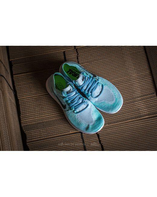 ... Nike - Wmns Free Rn Flyknit 2017 Blue Tint/ Black-cirrus Blue - Lyst ...