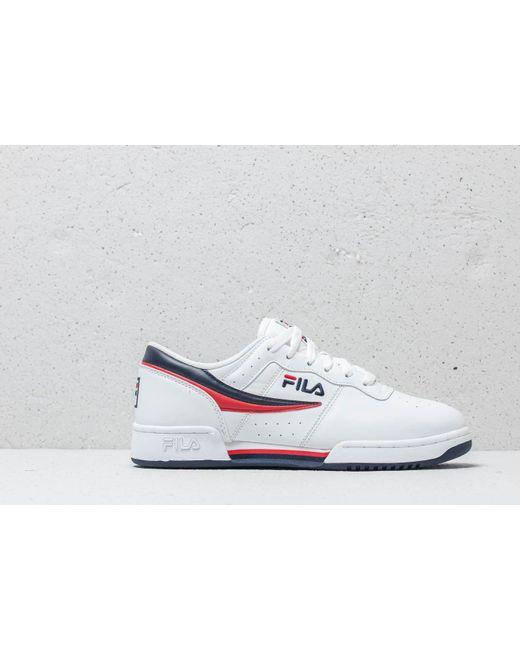 5b4e1f14fad8 ... Fila - Original Fitness White  Navy  Red for Men - Lyst ...