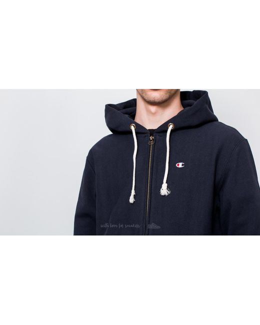 c18af17dafbe Champion In Zip Classic Men Weave Navy Hoody Reverse Lyst Blue For dZqCwgd