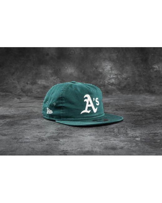 KTZ   9fifty Chain Stitch Oakland Athletics Cap Dark Green for Men   Lyst