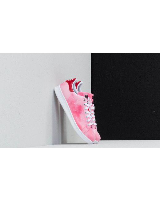 3c3126442 Adidas - Pink Adidas X Pharrell Williams Hu Holi Stan Smith Ftw White  Ftw  White ...