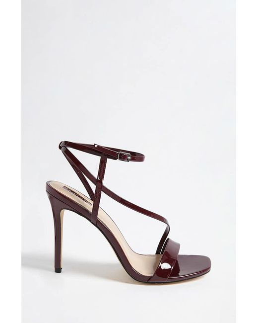 Forever 21 | Multicolor Faux Patent Leather Strappy Heels | Lyst