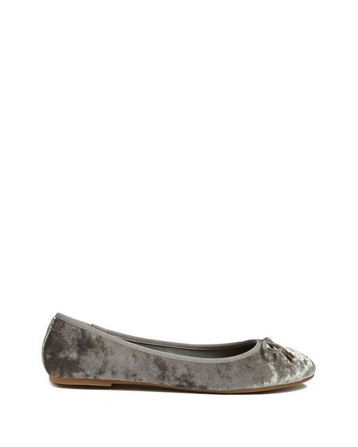 Forever 21 | Gray Crushed Velvet Flats | Lyst