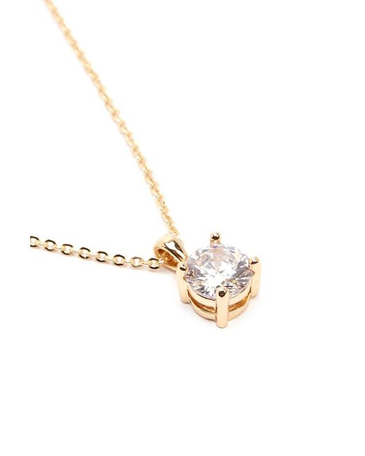 Forever 21 - Metallic Rhinestone Solitaire Necklace - Lyst