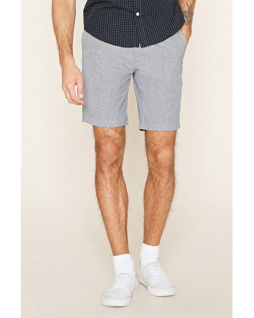 Forever 21 | Gray Twill Woven Shorts for Men | Lyst