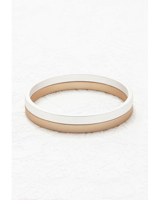 Forever 21 | Metallic Two-tone Matte Bangle | Lyst