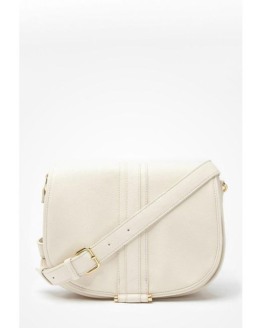 Forever 21 | Natural Faux Leather Crossbody | Lyst