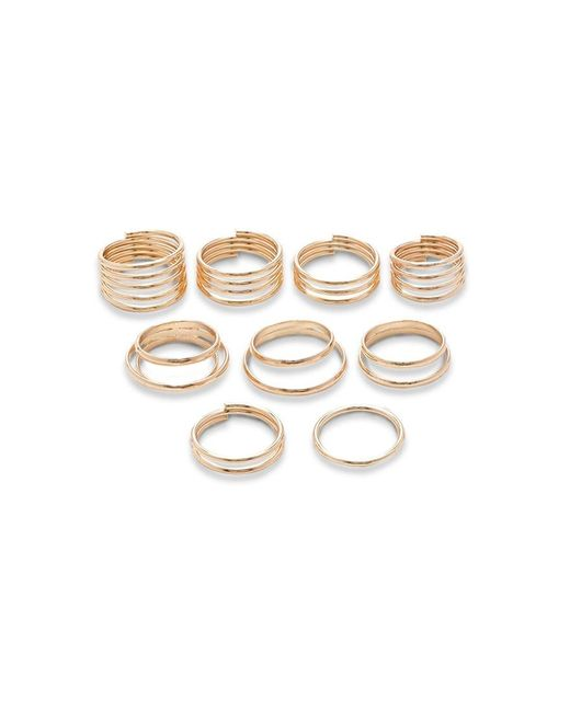 Forever 21 | Metallic Coil Ring Set | Lyst