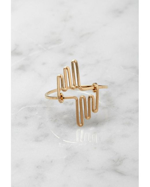 Forever 21 | Metallic By Boe Multi Linear Ring | Lyst