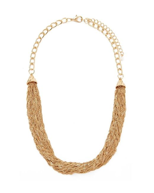 Forever 21 | Metallic Draped Singapore Chain Necklace | Lyst