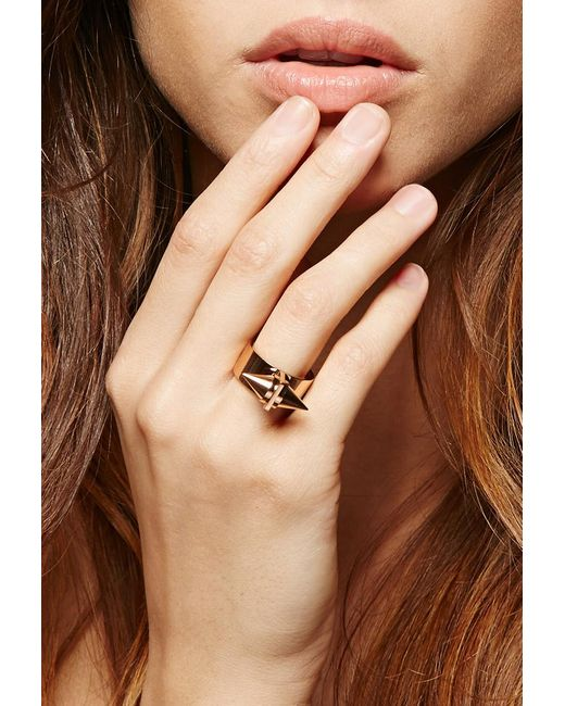 Forever 21 | Pink Amber Sceats Metal Alexia Ring | Lyst