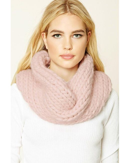 Forever 21 | Pink Chevron Infinity Scarf | Lyst