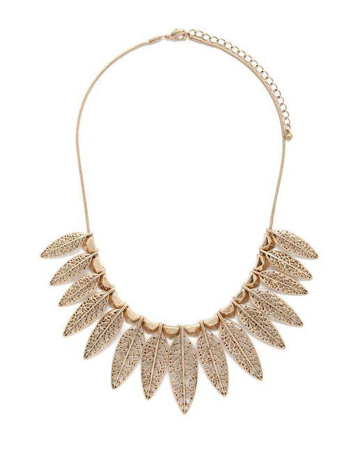 Forever 21 | Metallic Leaf Statement Necklace | Lyst