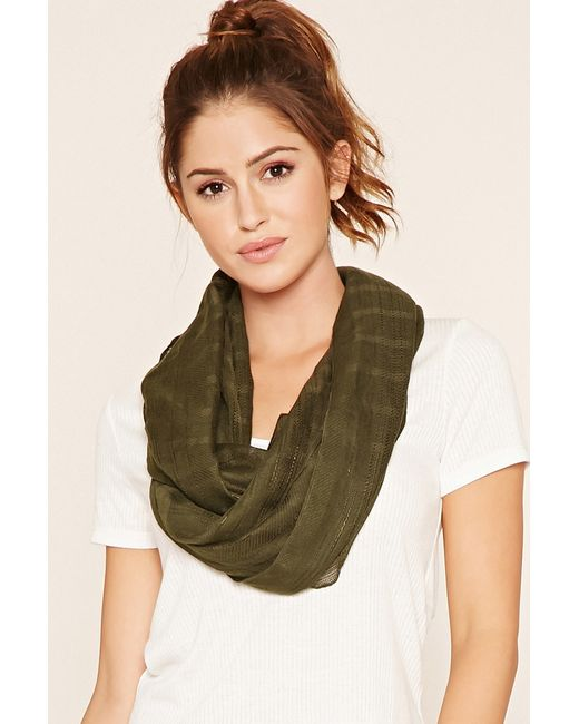Forever 21 | Green Woven Infinity Scarf | Lyst