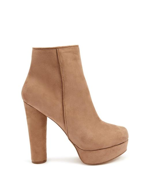 Forever 21 - Brown Faux Suede Ankle Boots - Lyst