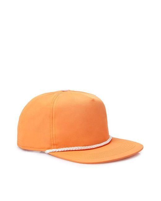Forever 21 - Orange Cord-trimmed Flat-brim Hat - Lyst