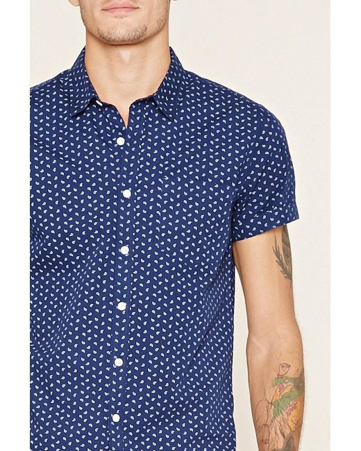 Forever 21 | Blue Paisley Print Shirt for Men | Lyst