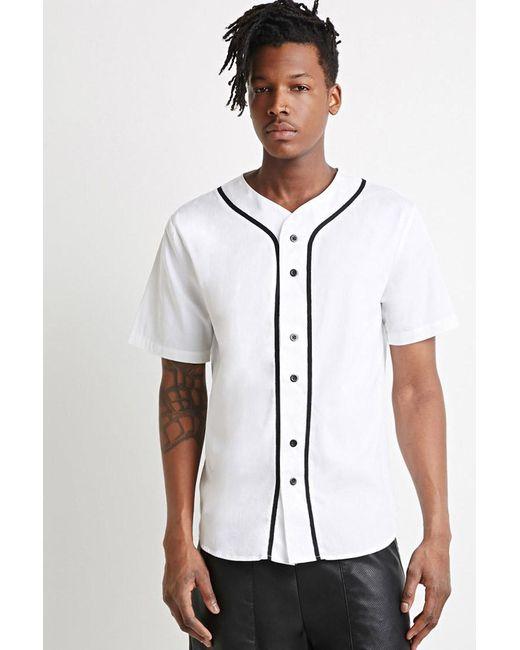 Forever 21 | White Cotton Baseball Shirt for Men | Lyst