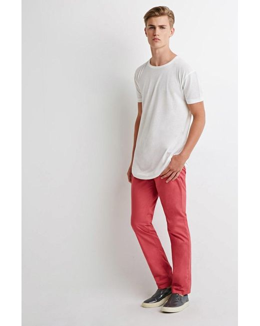 Forever 21 | Pink Slim Cotton Chinos for Men | Lyst