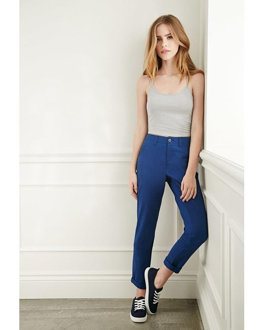 Forever 21 | Blue Slim Chino Pants | Lyst